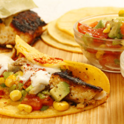 Blackened Halibut Tacos