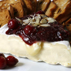 Cranberry Almond Compote with Brie