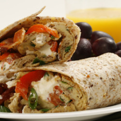 Cream Cheese Breakfast Wrap