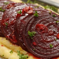 Honey Garlic Glazed Beets