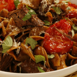 Spicy Mocha Braised Short Rib Pasta