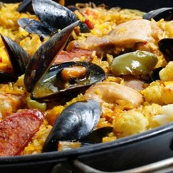 Chicken Chorizo and Mussel Paella