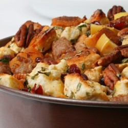 Pecan, Apple and Sausage Stuffing
