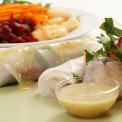 Shrimp Salad Rolls with Miso Viniagrette