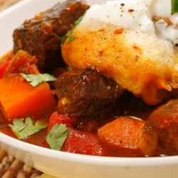 Tangy Stew with Coriander Dumplings