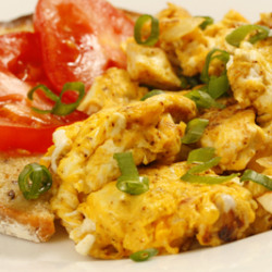 Tofu Egg Breakfast Scramble