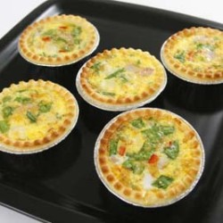 Spinach, Pepper and Ham Quiches