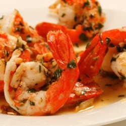 Garlic and White Wine Spot Prawns