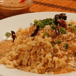 Quinoa with Garlic Bean Sauce