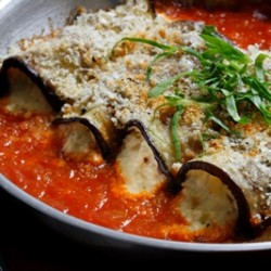 Ricotta Stuffed Eggplant Roll