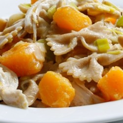 Coconut Chicken and Squash Pasta