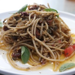 Sardine and Sun-dried Tomato Spaghetti