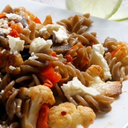 Roasted Cauliflower and Eggplant Fusilli