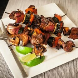 Balsamic Beef and Veggie Skewers