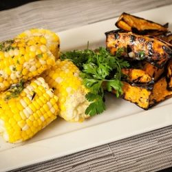 Grilled Corn and Yam with Cumin Lime Butter