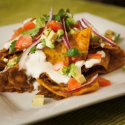 Chilaquiles with Ancho Chili Sauce