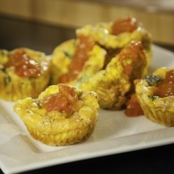 Bacon Cheddar Individual Quiches