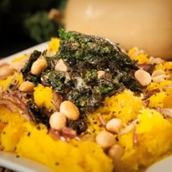 Roasted Butternut Squash with Macadamia Nuts