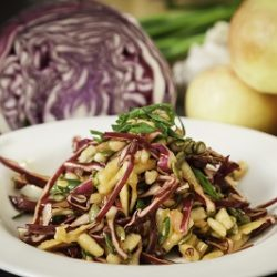 Purple Cabbage and Apple Slaw