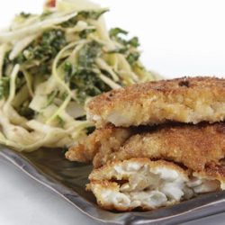 Breaded Rockfish with Sweet & Spicy Slaw