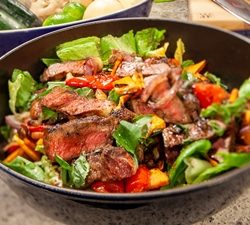 Grilled Striploin Steak Salad
